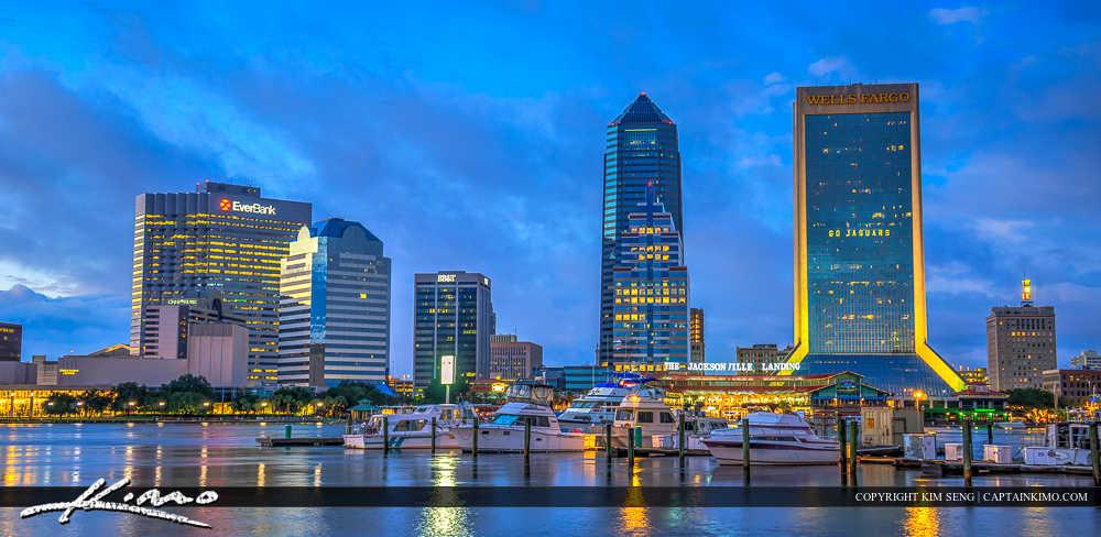 Jacksonville Florida Marina Skyline Downtown