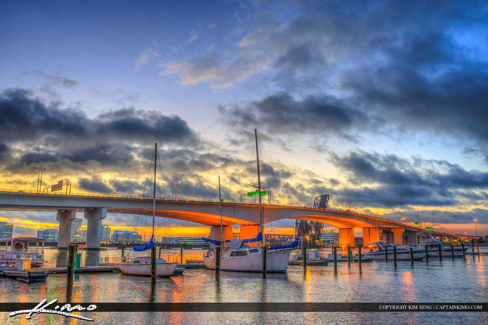 Jacksonville Florida Marina at Acosta Bridge