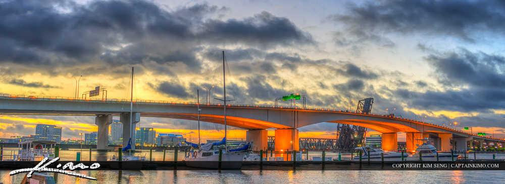 Jacksonville Florida Acosta Bridge Pano