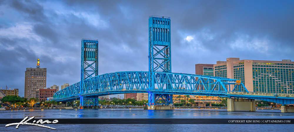 Jacksonville Skyline Florida Duval County Main Street Bridge Wid