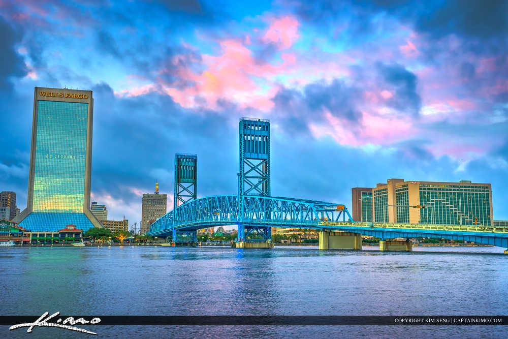Jacksonville Skyline Florida Duval County John T. Alsop Jr. Bridge