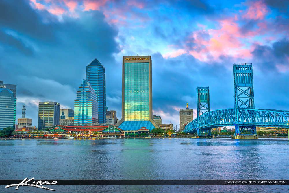 Jacksonville Skyline Florida Duval County City