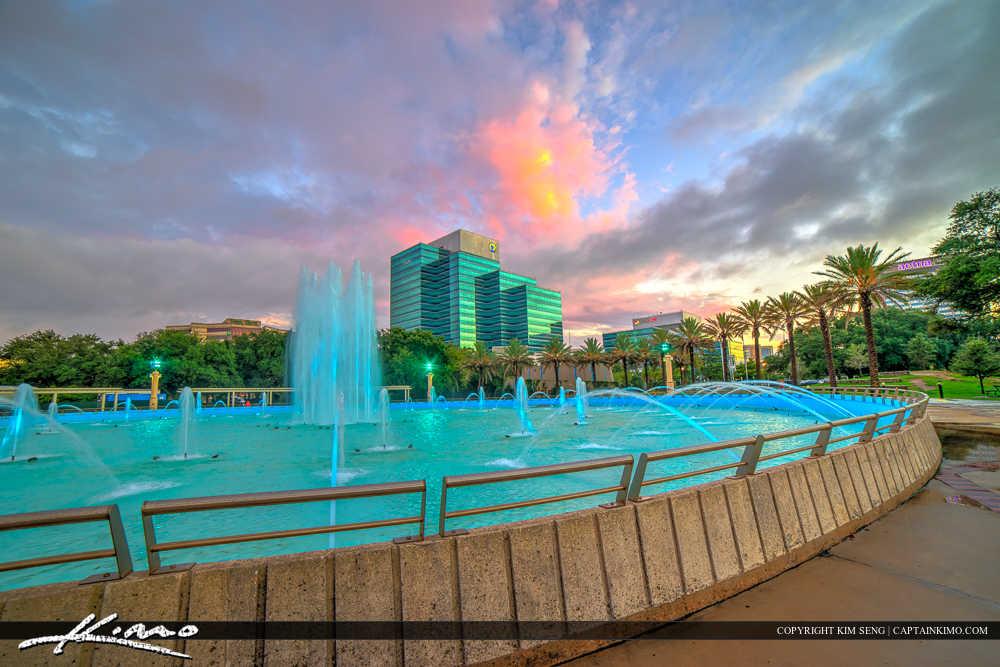 Jacksonville Skyline Florida Duval County Friendship Fountain