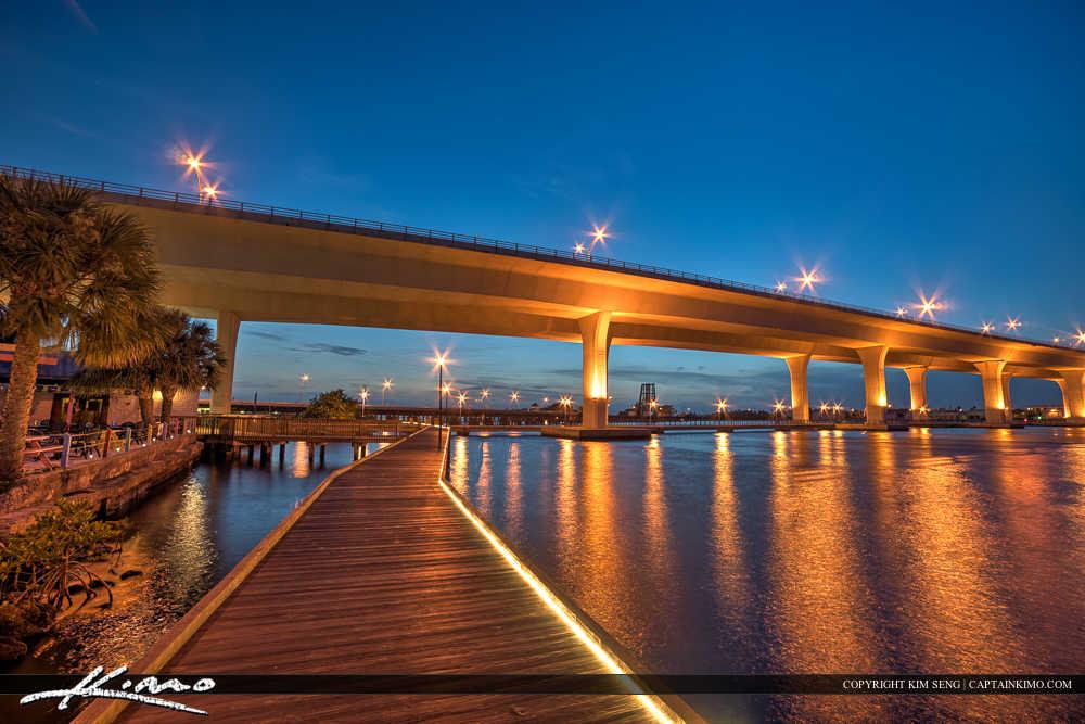 Roosevelt Bridge Stuart Florida Pelican Cafe