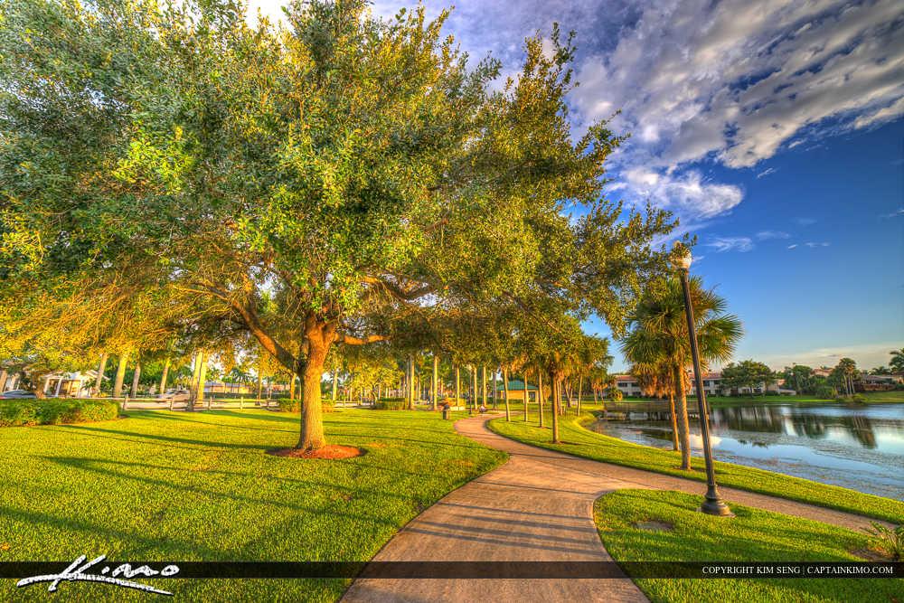 Royal Palm Beach Florida Sidewalk at Park