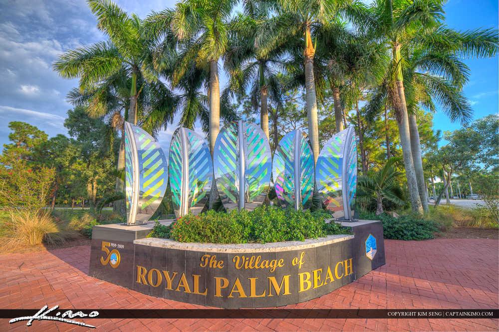 Royal Palm Beach Florida Welcome Sign