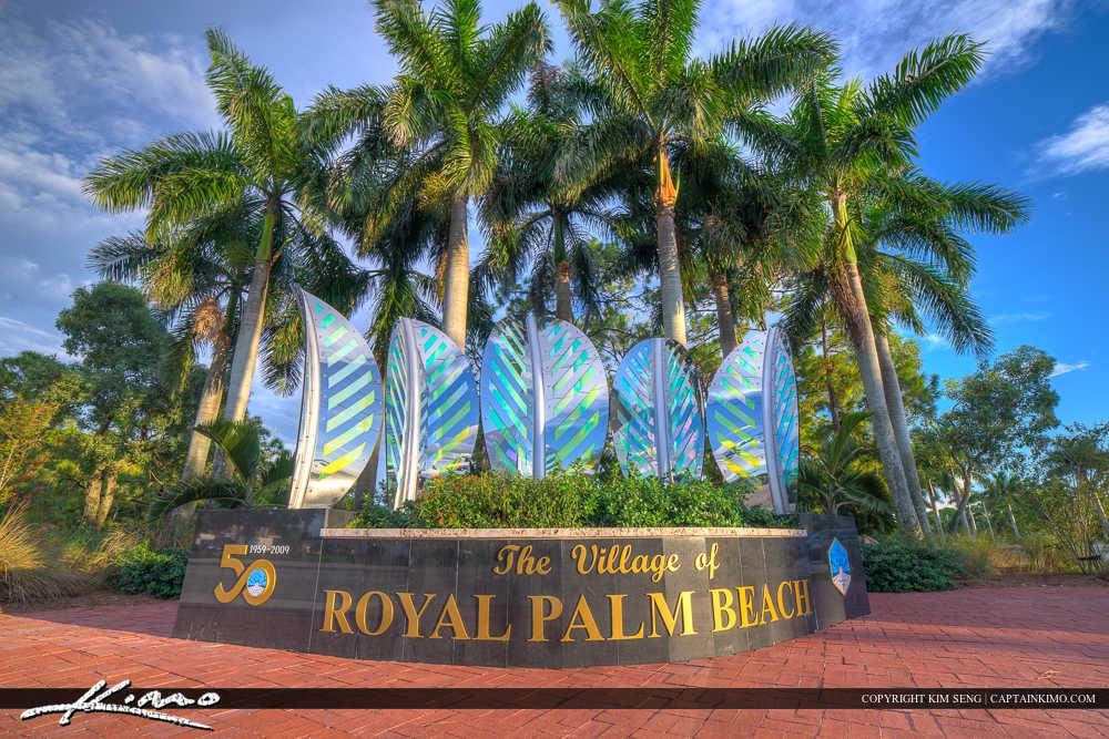 Royal Palm Beach Florida The Village Sign