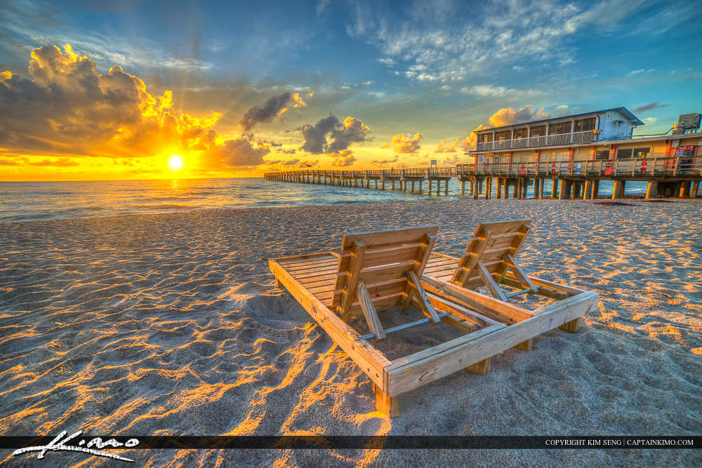 Lake Worth Beach Sunrise Couples Chair