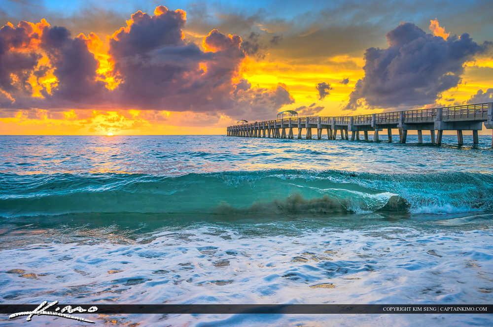 Lake Worth Beach Sunrise Wave Break