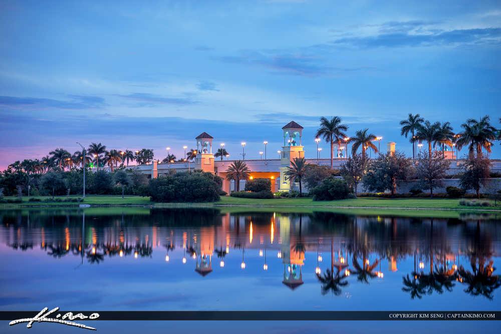 Palm Beach Gardens Florida Downtown PGA Bridge Smooth Reflection