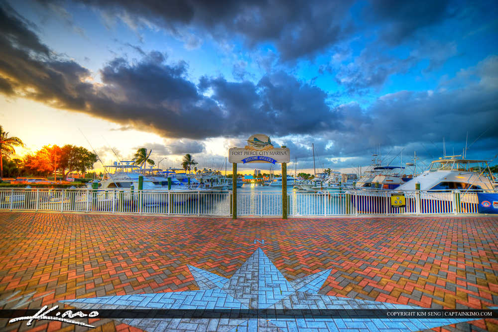 Fort Pierce Downtown at the Boat Dock