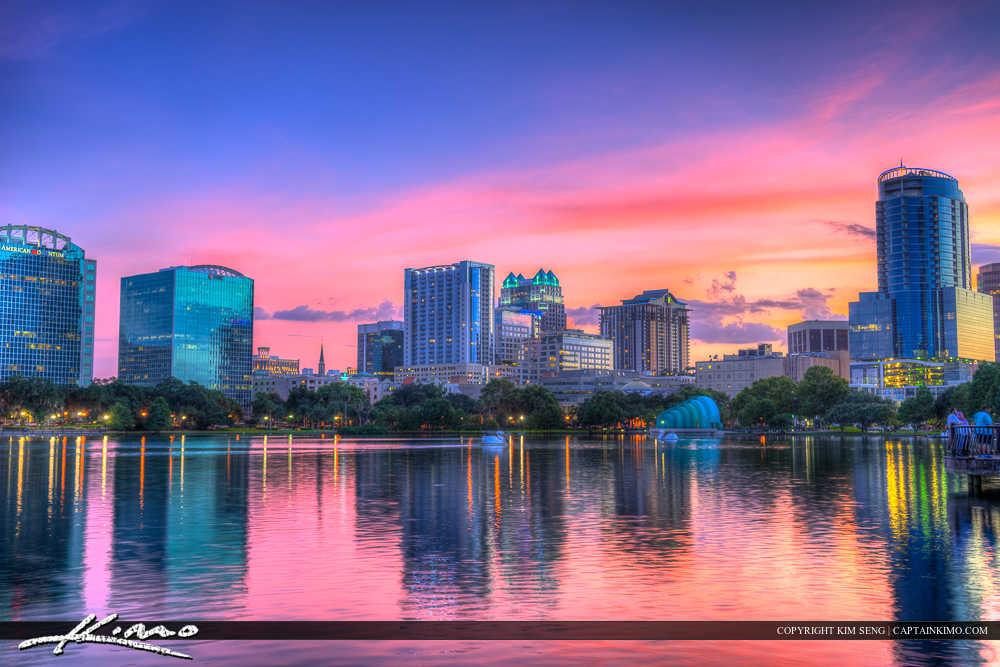 Orlando Lake Eola Florida Lake Colors
