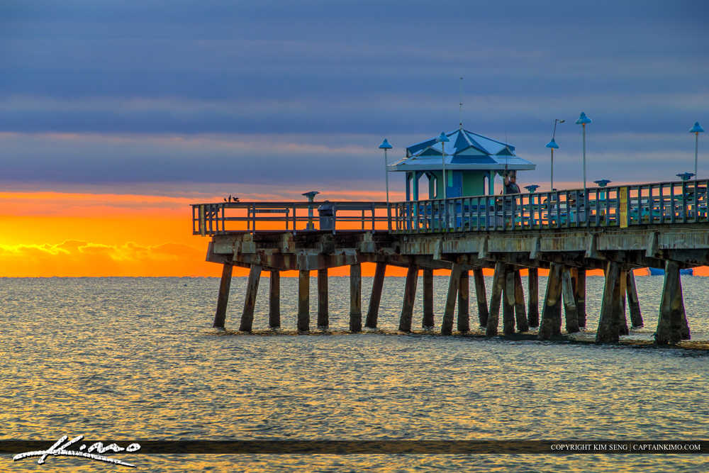Lauderdale by the Sea Florida Fishing Pier at End