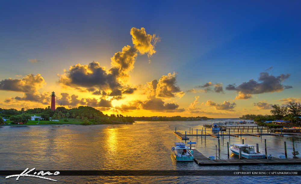 Glorious Sunrise Jupiter Inlet Lighthouse Florida