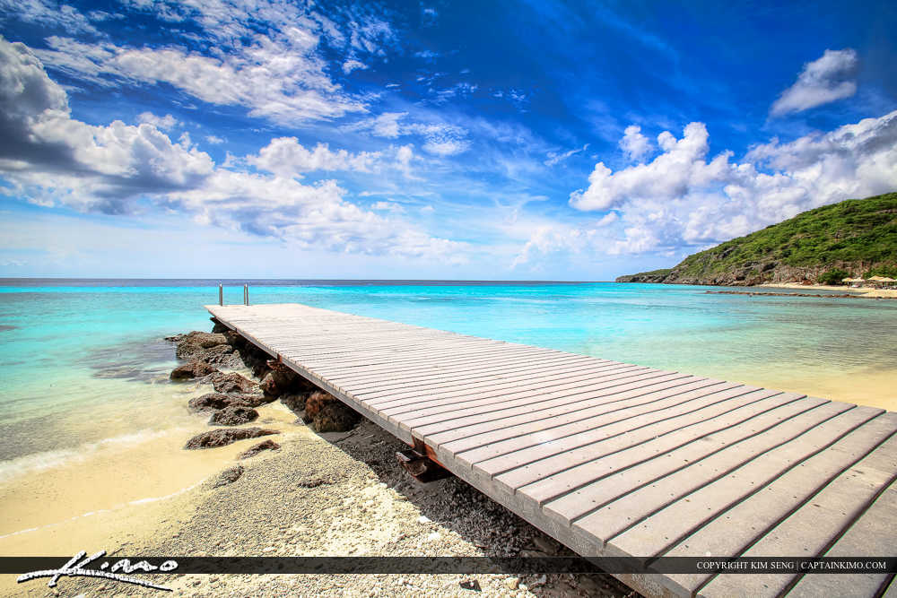 Paradise Caribbean Island Curacao Blue Water Pier