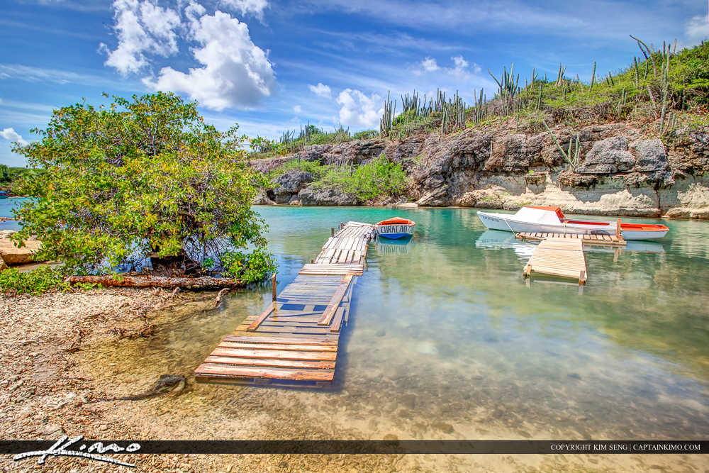 Paradise Caribbean Island Curacao Boat Dock