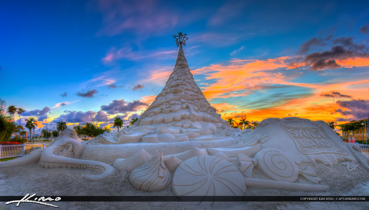 Christmas Sand Tree West Palm Beach Florida