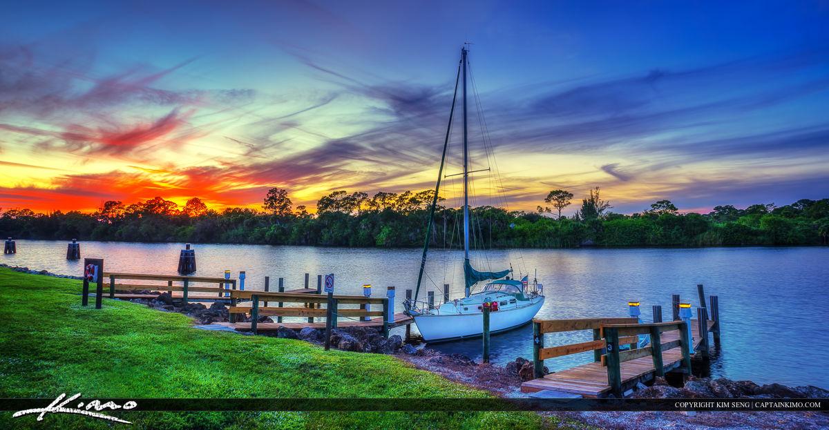 Sailboat Sunset St. Lucie River Stuart Florida