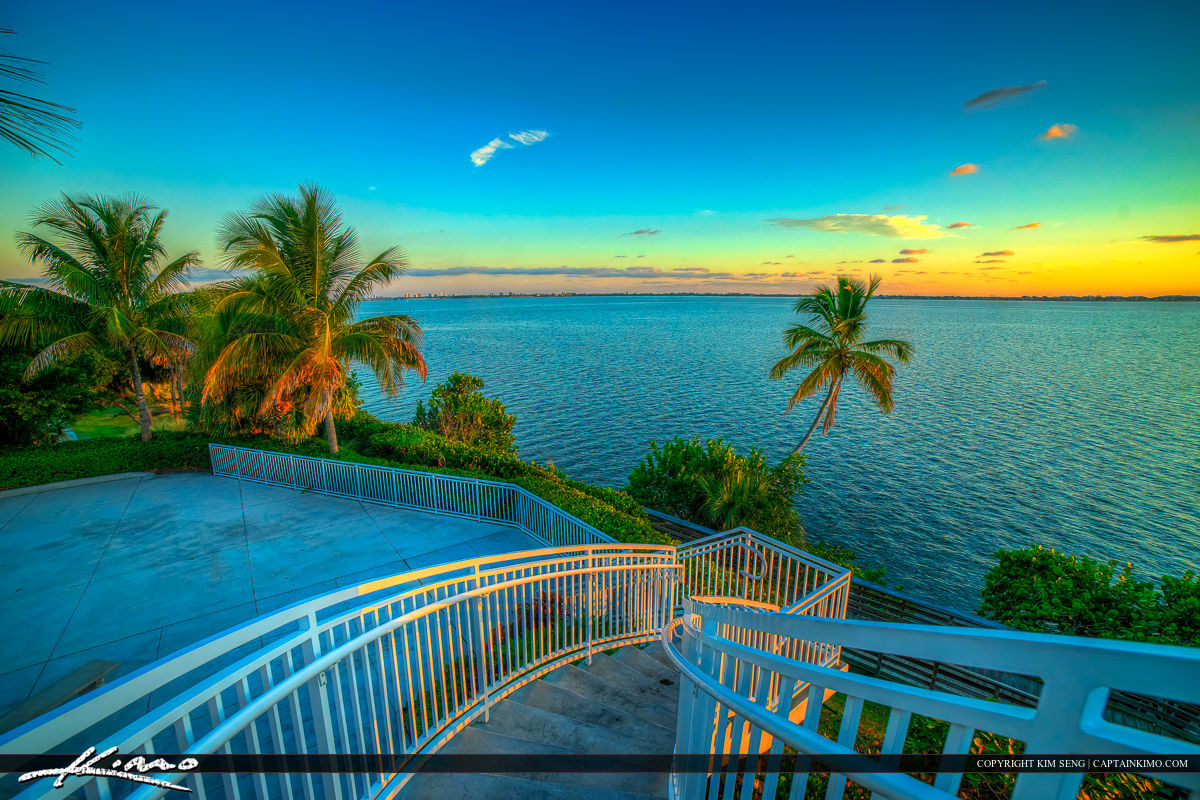 Tuckahoe Mansion Jensen Beach Florida Stairs Looking Down