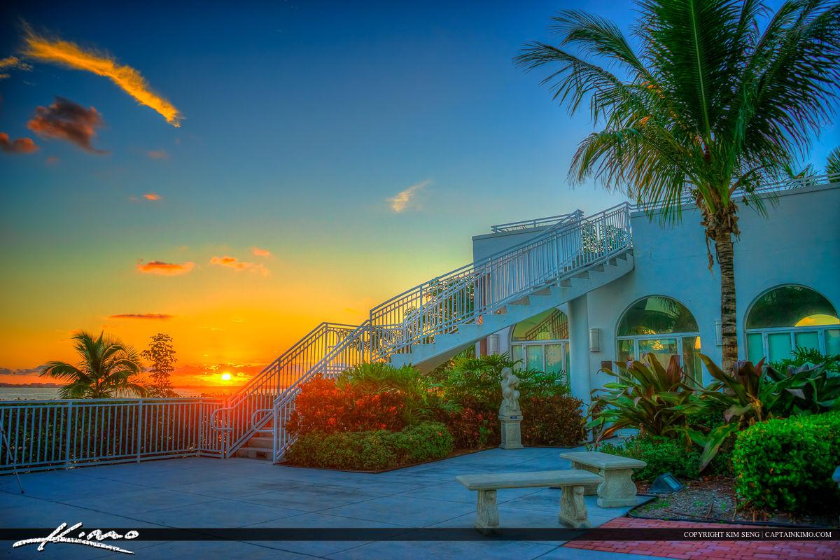Tuckahoe Mansion Jensen Beach Florida Sunrise at Stairs