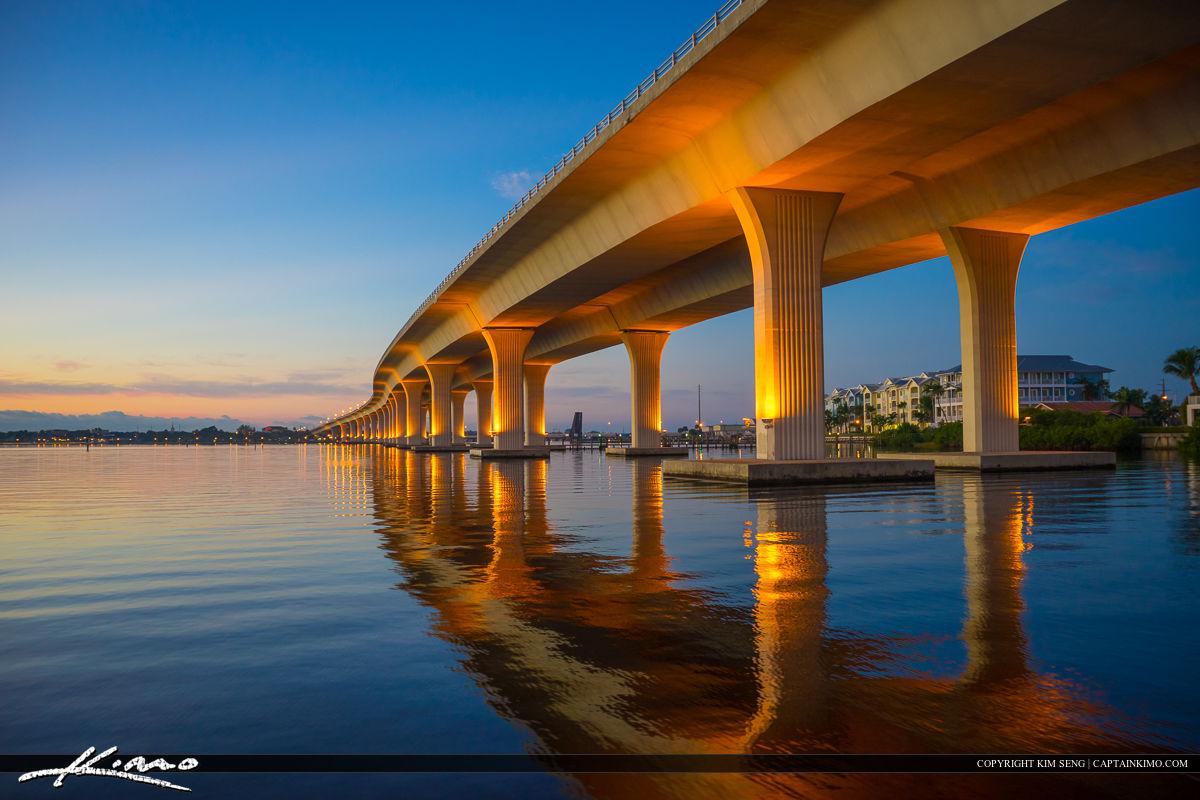 Roosevelt Bridge Stuart Florida Martin County Morning Colors