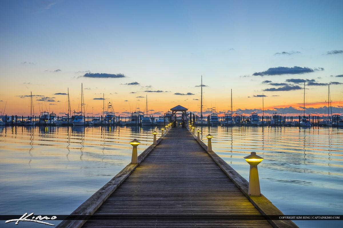 Roosevelt Bridge Mirror Reflection Stuart Florida Dock to Marina