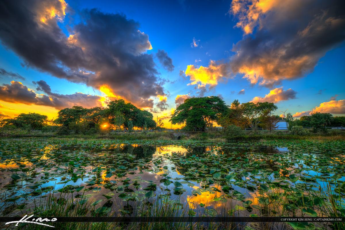 Delray Beach Sunset Lake Ida Park