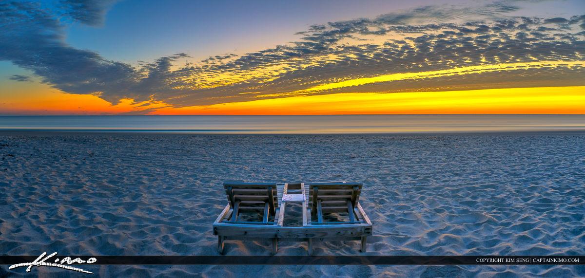Beach Chair at City Beach Park Singer Island Florida Sunrise