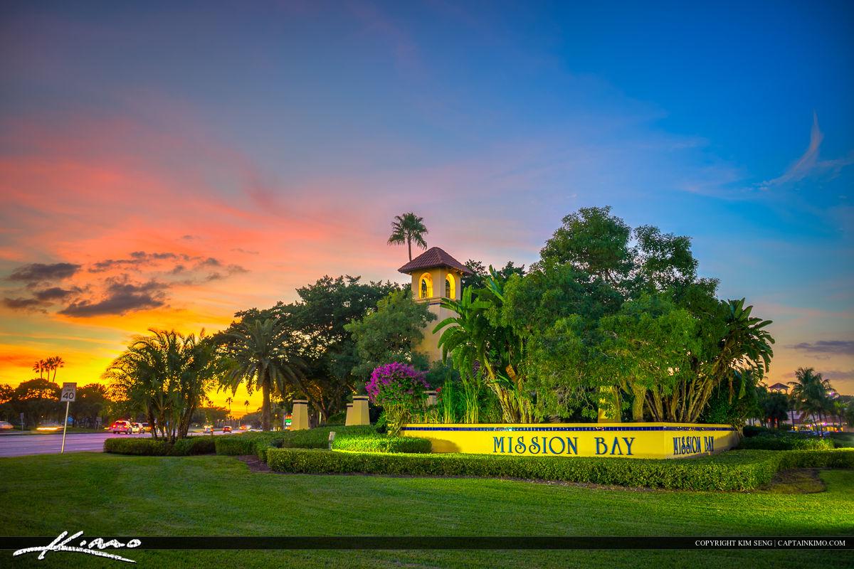 Boca Raton Mission Bay Sunset at Plaza
