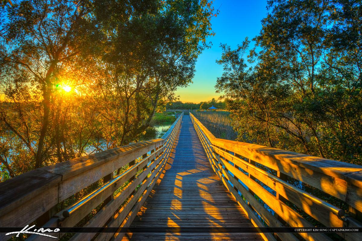 Boardwalk Sunset at Green Cay Boynton Beach