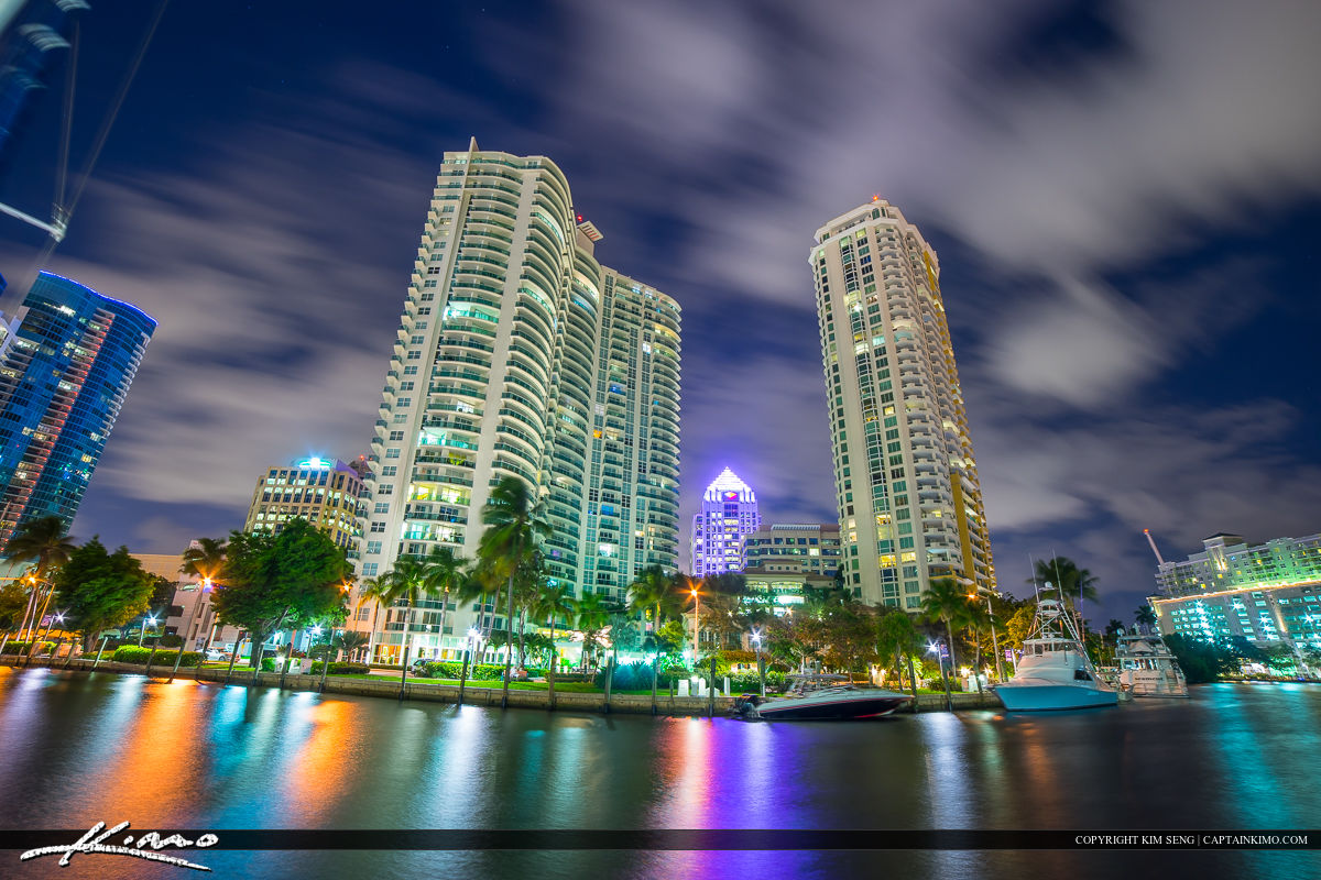 Fort Lauderdale Downtown City at New River Tall Buidling Condo
