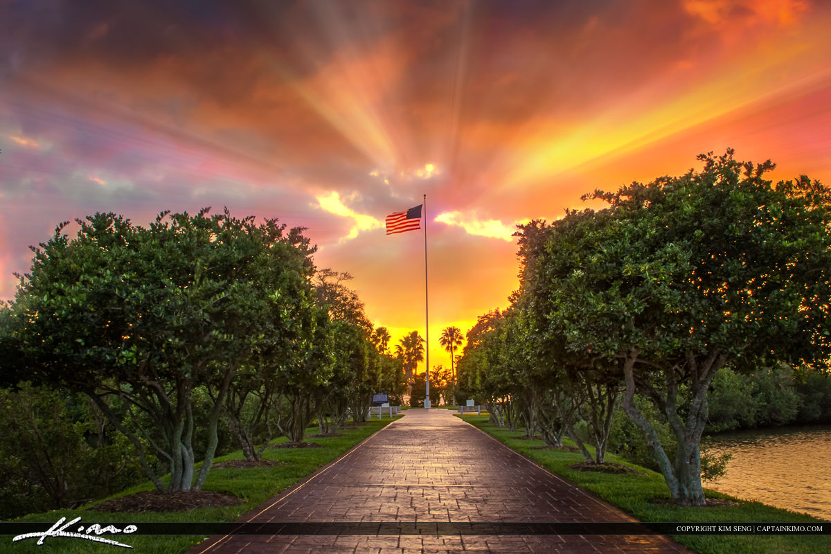 America Flag Veterans Day Photo from Vero Beach