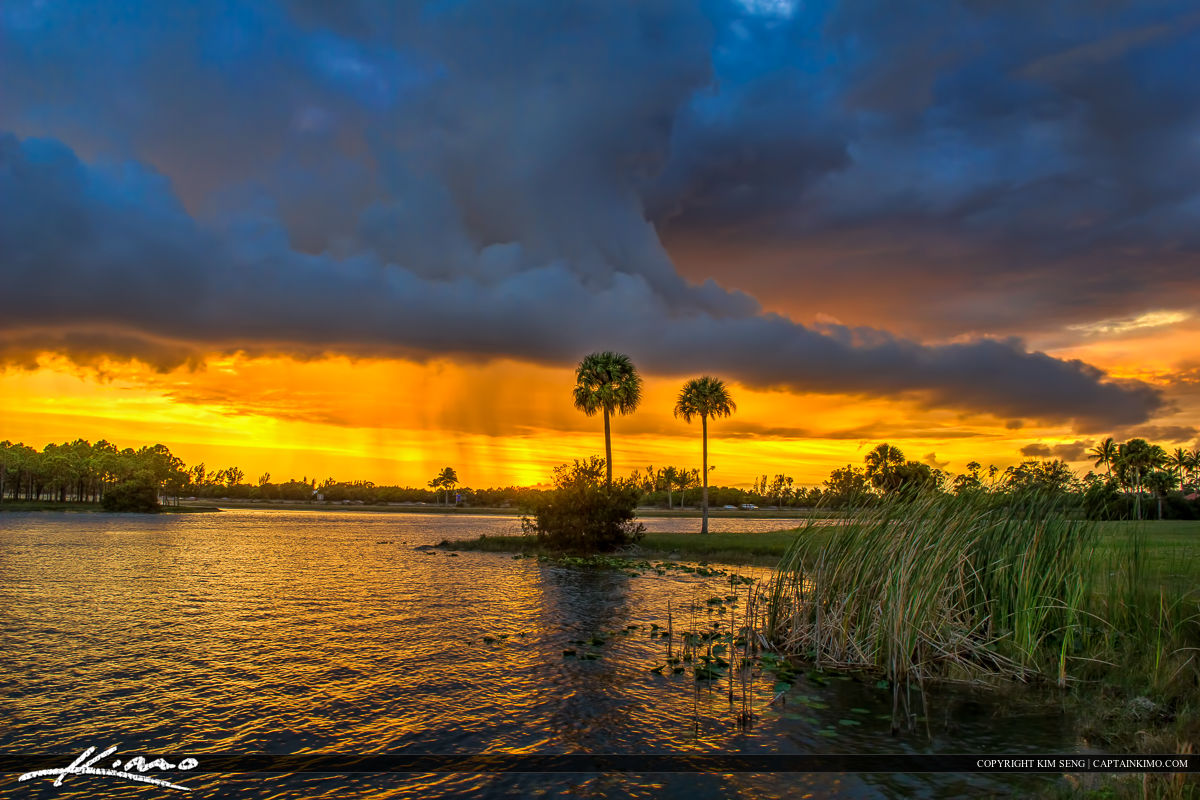 Sunset Storm Okeeheelee Park West Palm Beach