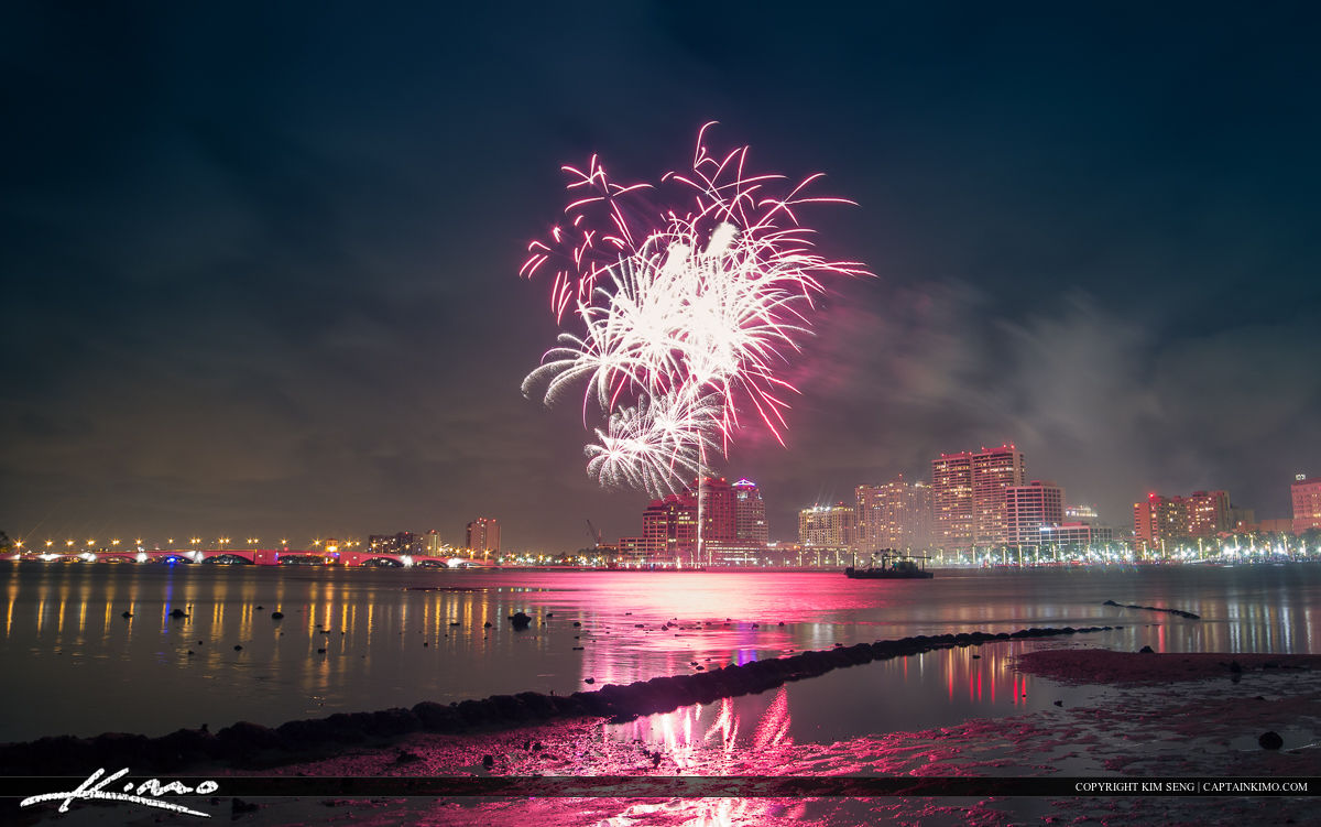 Fireworks at West Palm Beach During Fourth of July