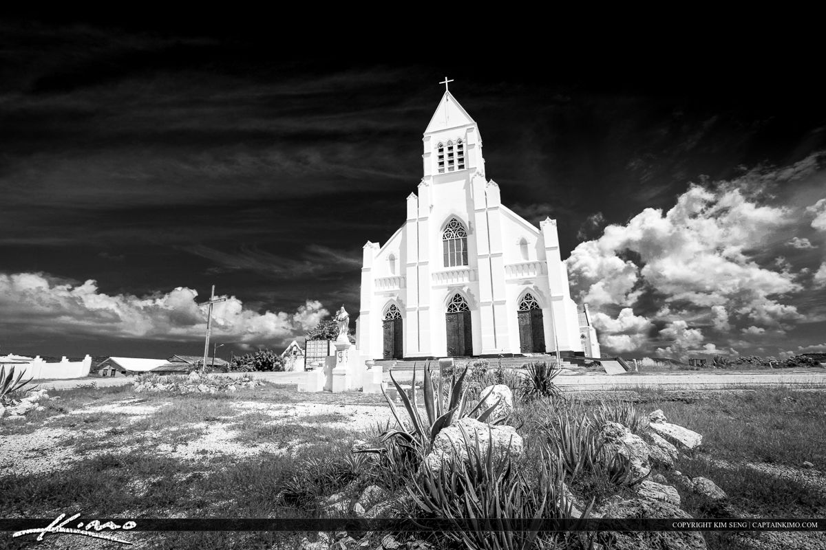Dramatic Black and White Church from Curacao