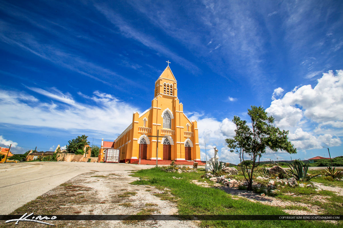 Curacao Travel Caribbean Islands Orange Church Cross