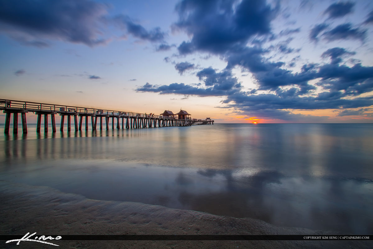Naples Pier Sunset Last Light Gulf Coast