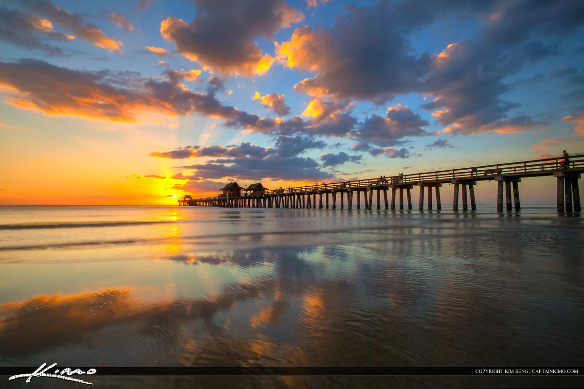 Naples Florida Sunset at The Naples Pier