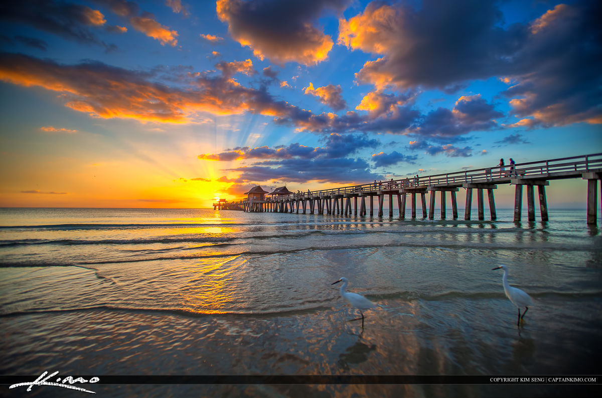 Sunset at Naples Pier Collier County Florida