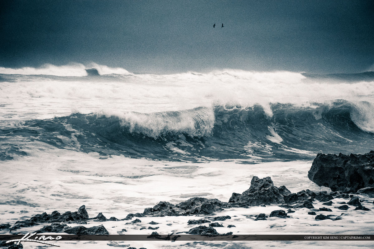 Wave at the Beach Break along Shore Three