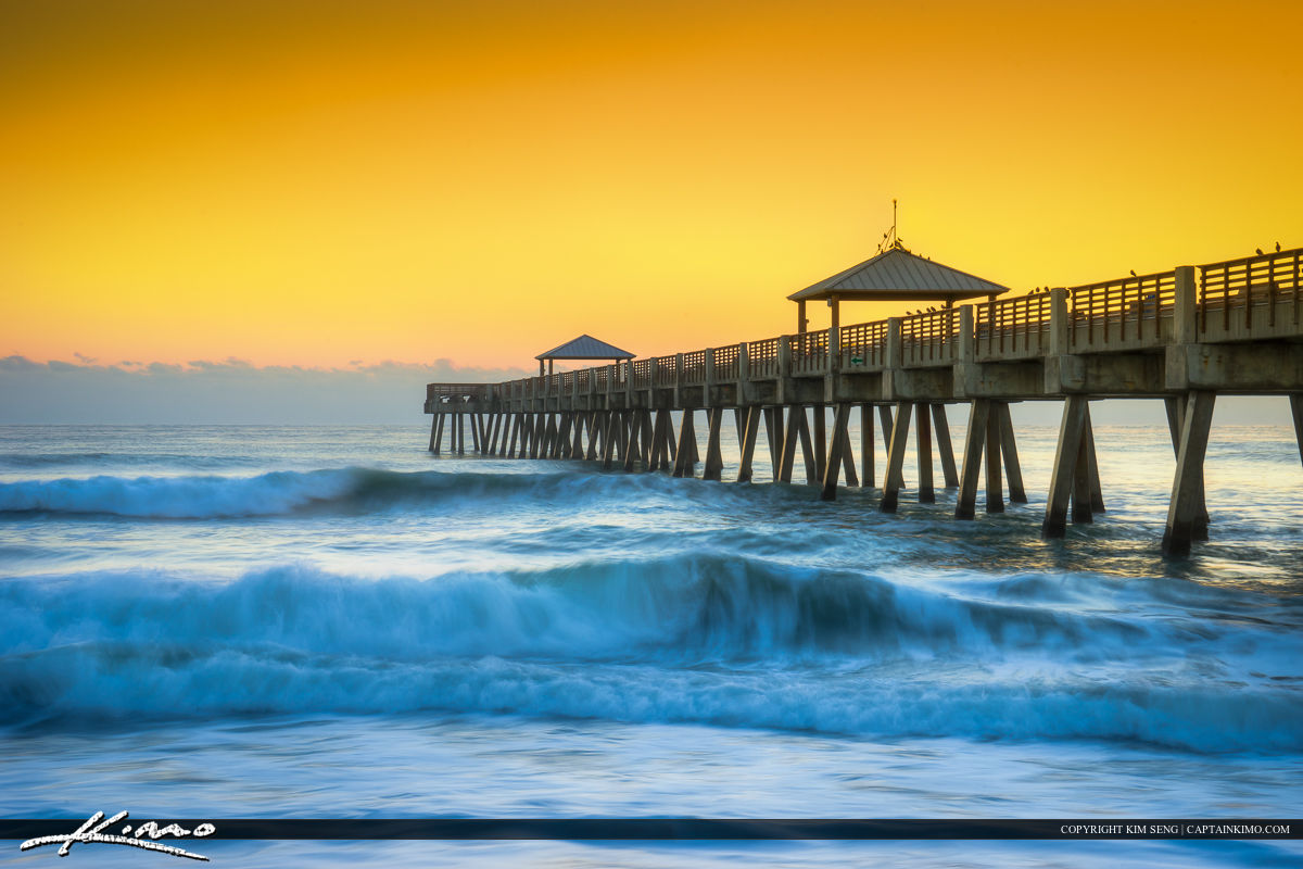 Waves at the Juno Beach Pier