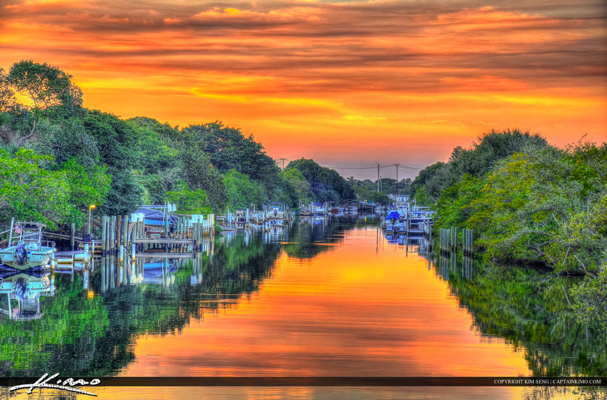 North Palm Beach River at Sunset