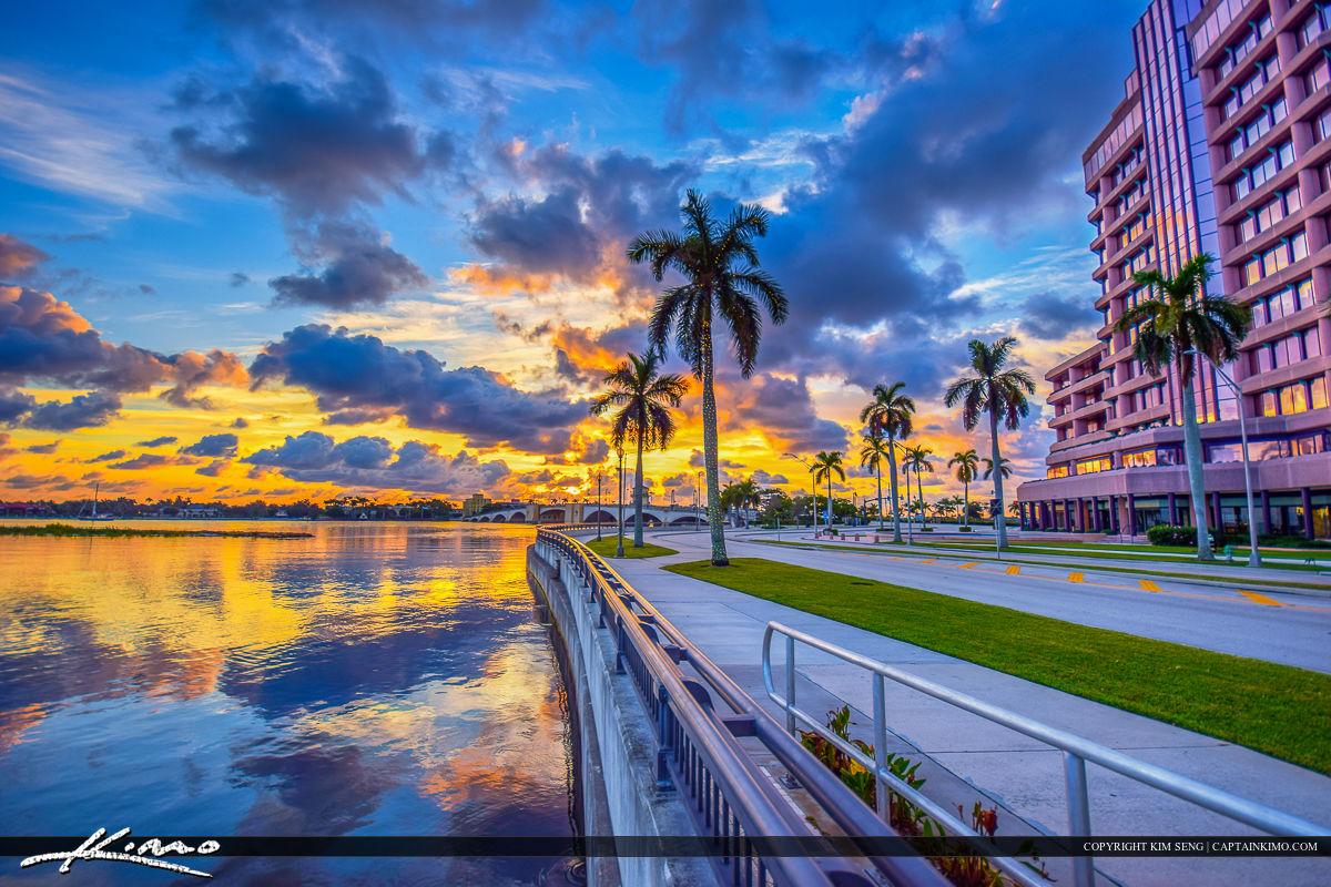West Palm Beach City Sunrise at Phillips Point
