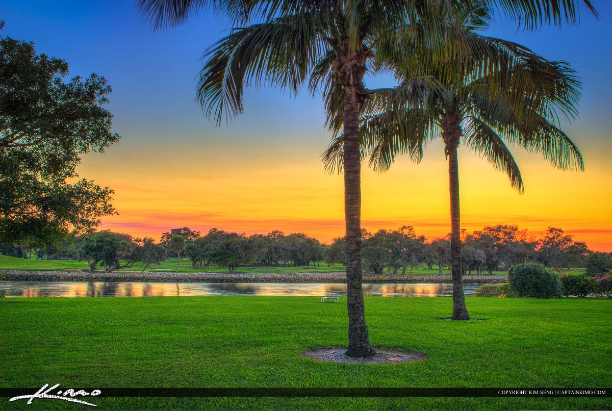 North Palm Beach Sunset at Waterway