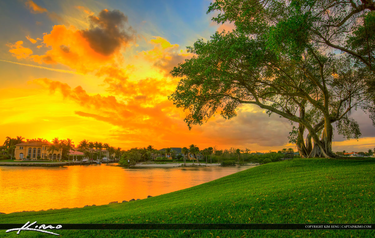 North Palm Beach Waterway Sunset