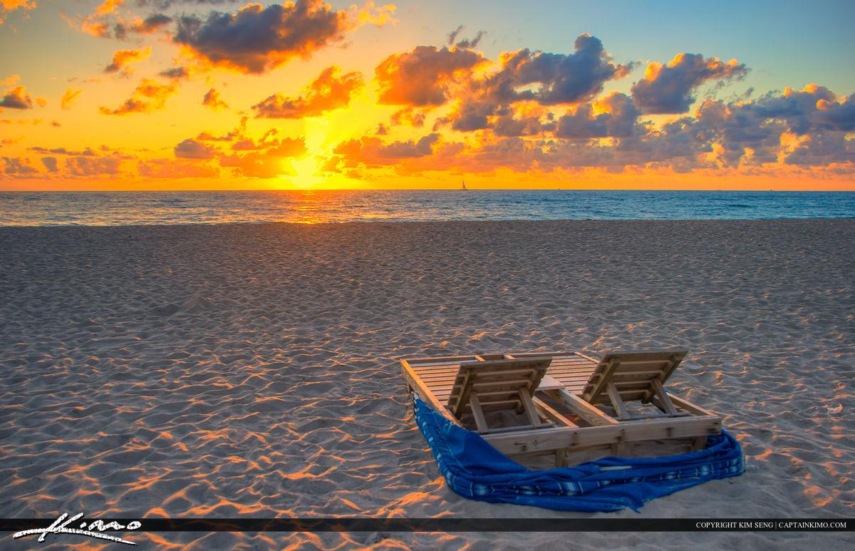 Sunrise Riviera Beach Florida Beach Chair