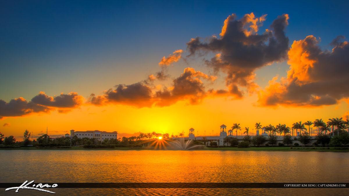 PGA Boulevard Bridge Palm Beach Gardens Sunset