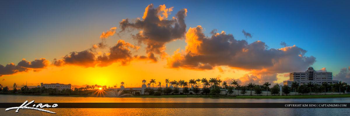 PGA Boulevard Bridge Palm Beach Gardens Panorama