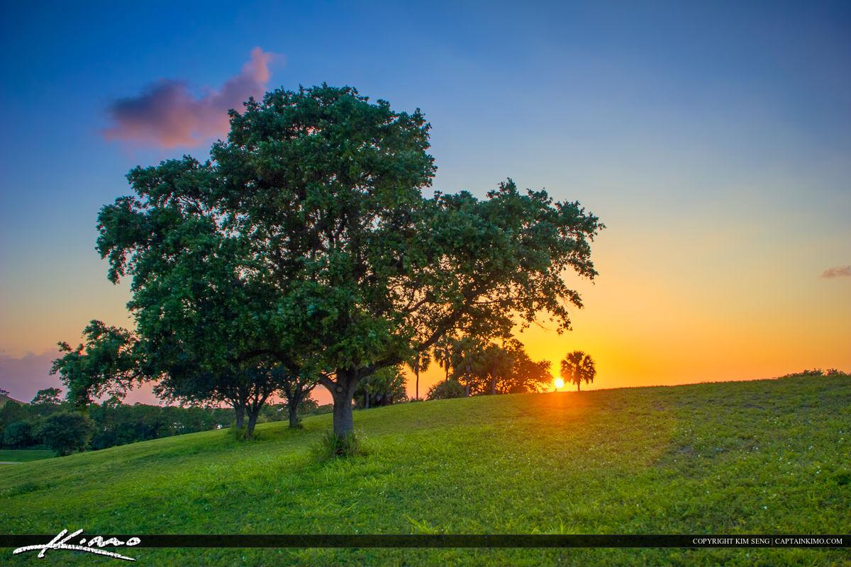 Dyer Park Sunset on Hill Palm Beach County