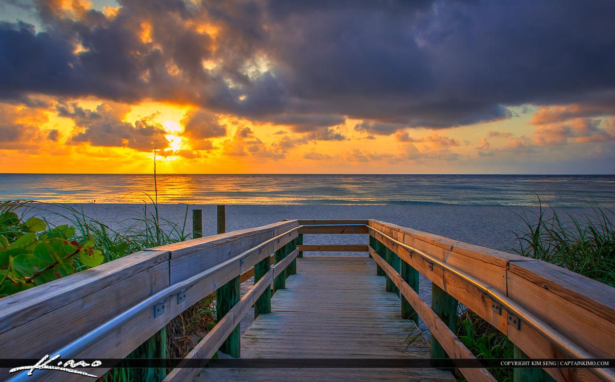 Sunrise Singer Island Beach Florida Boardwalk